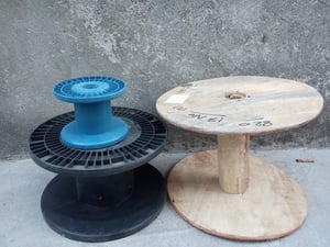 Plastic and Wood Copper Wire Reel
