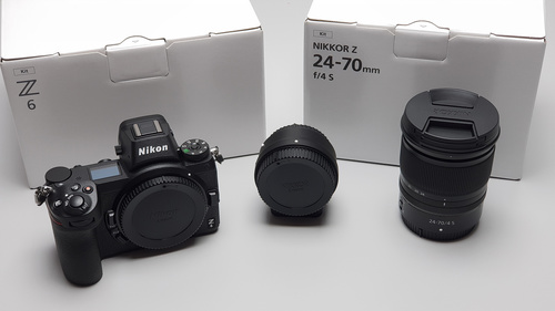 New Nikon Z6 Mirrorless Digital Camera With 24-70mm Lens