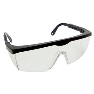 Unisex Safety Goggles With Black Frame