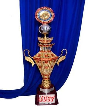 Wooden And Crystal Trophy