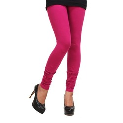 Pink Cotton Leggings For Women