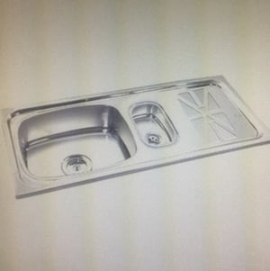 Stainless Steel Bowl With Drain Board Kitchen Sink
