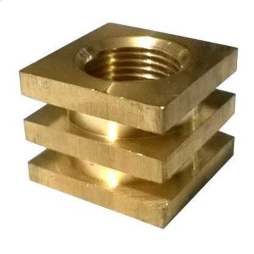 Industrial Brass Square Insert