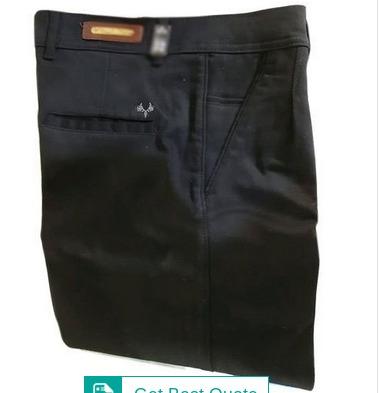 Men Black Cotton Trouser