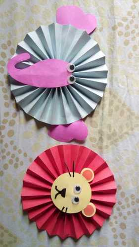 Handmade Artificial Paper Fan Size: Various Sizes Are Available