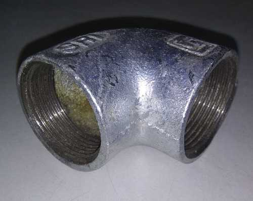 Silver Galvanized Iron Fitting Elbow