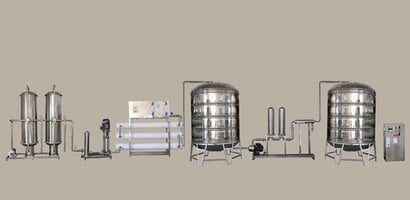 Stainless Steel High Efficiency Mineral Water Plant