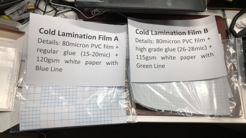 Pvc Cold Lamination Film Certifications: Sgs