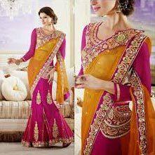 Ladies Designer Lehenga Sarees At Best Price In Delhi Delhi Shreeagam Design House Pvt Ltd