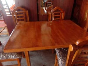 Wooden Dining Table With Four Chair