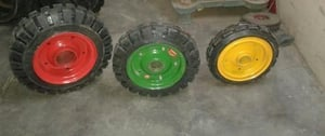 Round Shape Solid Rubber Cushion Tyred Wheels