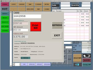 Food Court And Canteen Smart Card Pos Software