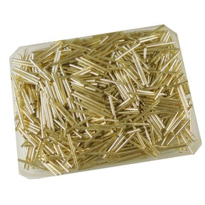 Golden Glass Cut Pipe Seed Beads