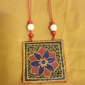 Hand Painted Fabric Necklace