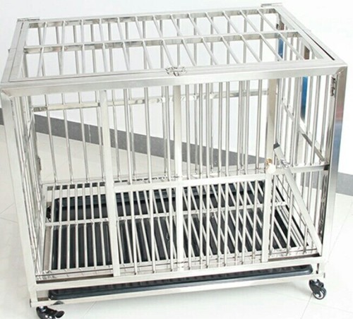 Silver Dog Cage With Steel Material