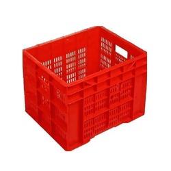 Red Square Plastic Crate
