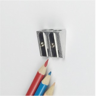Two Hole Zinc Alloy Crayon Pencil Sharpener