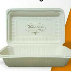 Disposable Cornstarch Clamshall Boxes