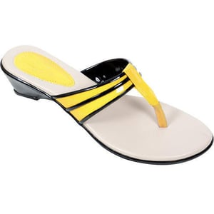 Silver And Golden Ladies Fashion Slipper