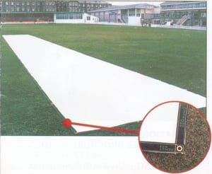 White Cricket Pitch Cover