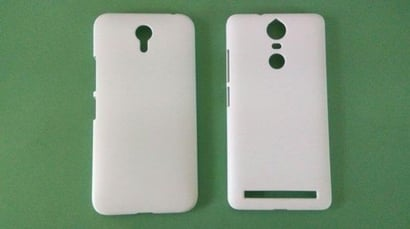 White Color 3D Mobile Covers Body Material: Plastic