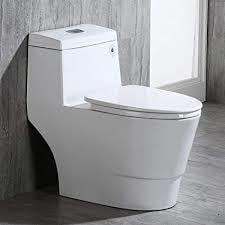 White Colored One Piece Toilet