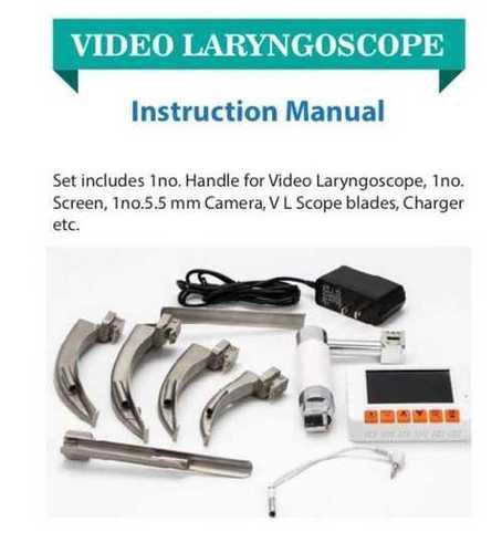 Video And Manual Lyringoscope