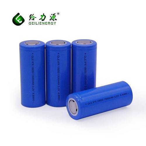 GLE IFR 18650 1500mAh 3.2V 4.8WH Battery Cell