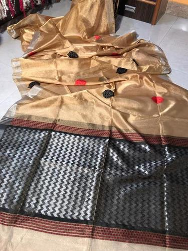 Wedding Special Pure Tissue Tussar Handloom Saree