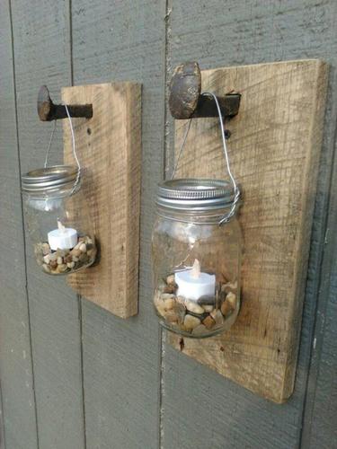 Wooden Lantern Holder