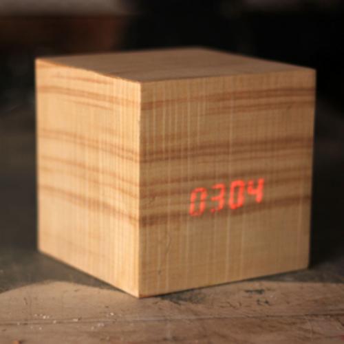 Wooden Led Digital Clock