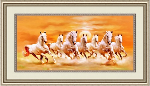 Seven Horses Paintings Certifications: As Applicable