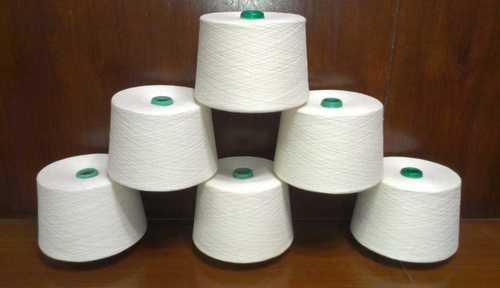 Light In Weight Plain White Cotton Yarn