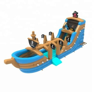 Pirate Ship Inflatable Wet & Dry Slide