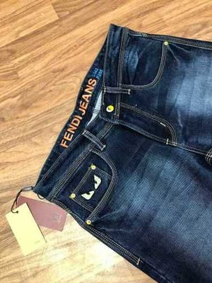Washed Style Jeans Trouser