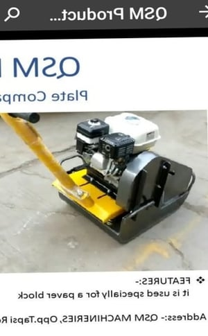 Plate Compactor With Engine (2 Ton)