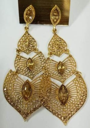 Artificial Gold Platted Earring