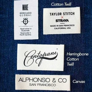 Customized Cotton Printed Label