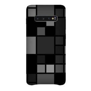 Grey Colour Blocked (Samsung Galaxy S10 Plus) Mobile Phones Back Cover