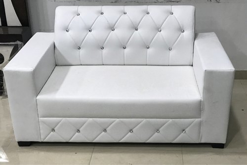 Groovy White Rexine Two Seater Sofa Set Gmtry Best Dining Table And Chair Ideas Images Gmtryco