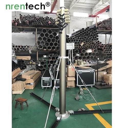 10m Pneumatic Telescopic Mast Lockable, Aluminum
