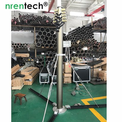 10M Pneumatic Telescopic Mast Lockable, Aluminum Application: Cctv