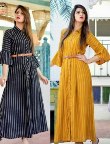 Kurti With Bell Sleves