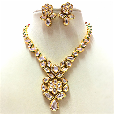 Kundan Meena Jadau Necklace Set