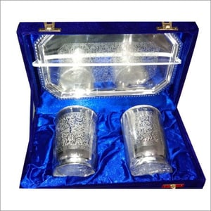 Silver Plated Glass Set