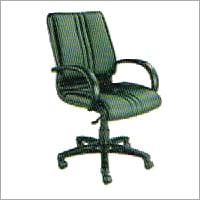 Medium Back Leather Swivel Chair