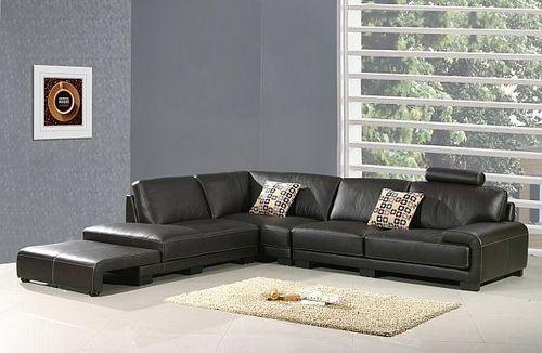 Modern Leather Corner Sofa