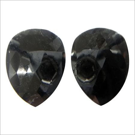 Rose Cut Fancy Black Diamond