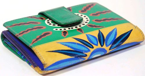 Leather Hand Painted Ladies Wallet