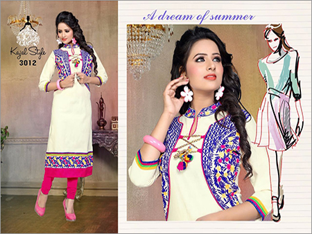 Fancy Embroidered Cotton Kurtis
